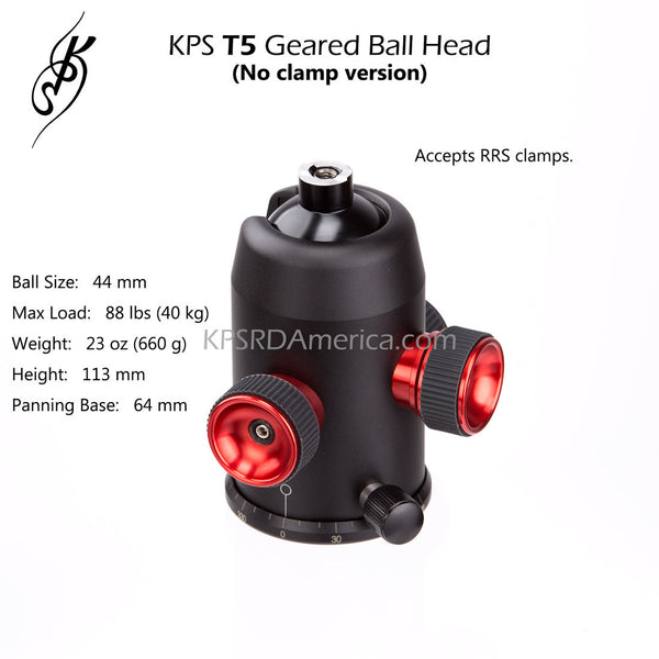 KPS T5 Geared Ball Head (no clamp version)