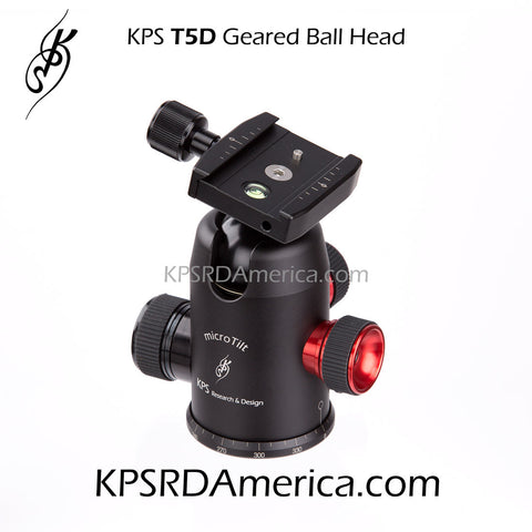 KPS T5D Geared Ball Head (Screw Knob Release)