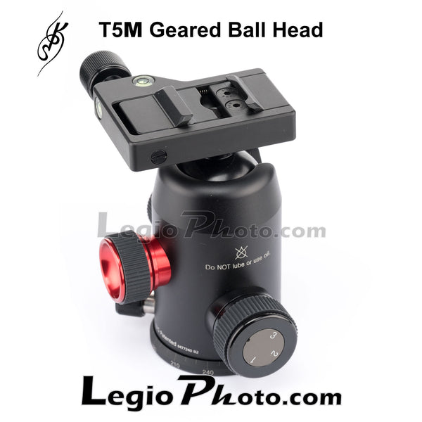 KPS T5M Geared Ball Head (KPS Screw Knob Clamp)