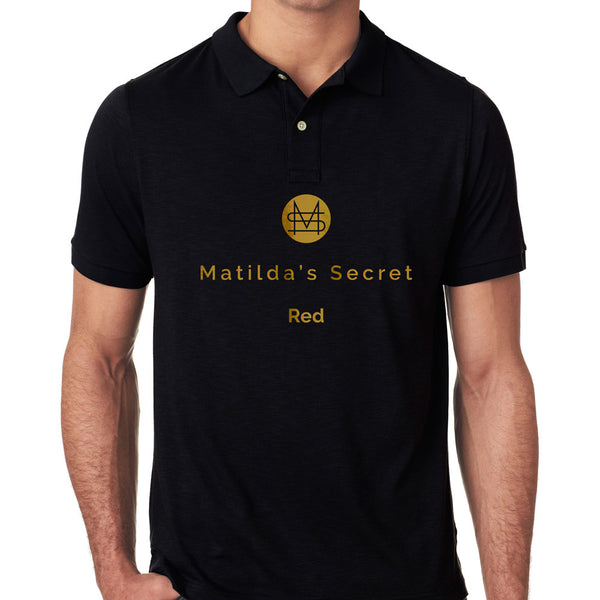Matilda's Secret Red Golf Shirt