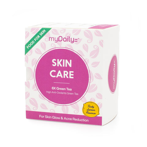 Skin Care 6X Green Tea • For Skin Flow & Acne Reduction • High Antioxidants for Free Radicals Damage Protection