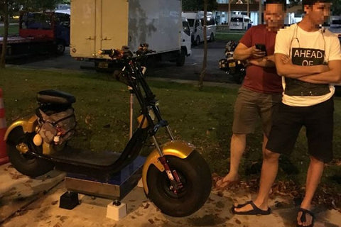 64kg e-scooter seized by LTA