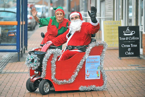 Santa on mobility scooter