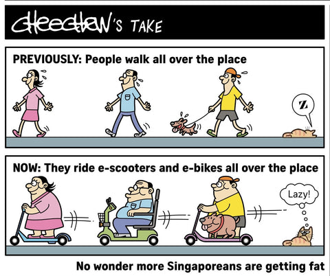 Scooters, Singaporeans & Obesity