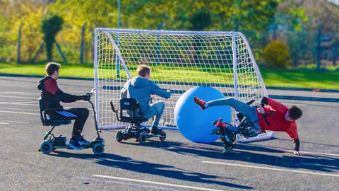 Mobility scooter football
