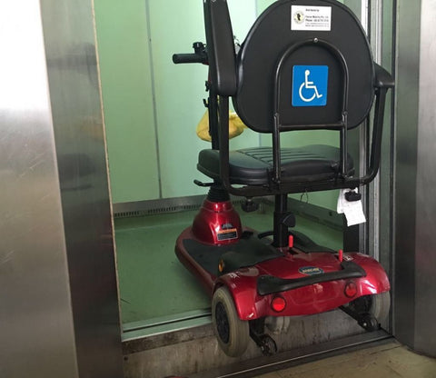 Mobility Scooter accident due to Mislevelled Lift