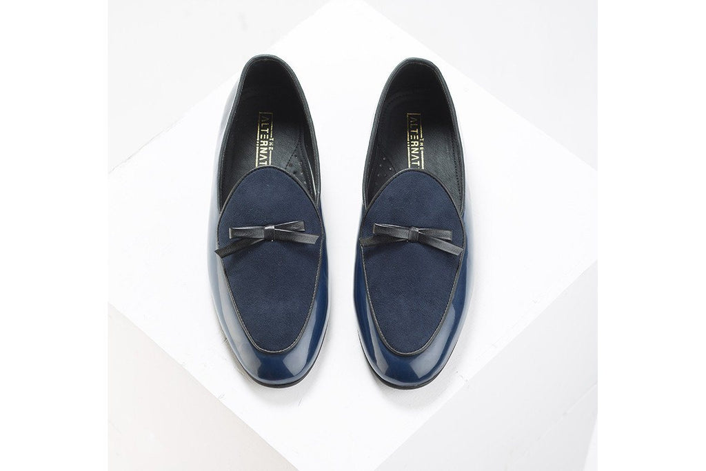 Sole Mate Blue Slip-ons