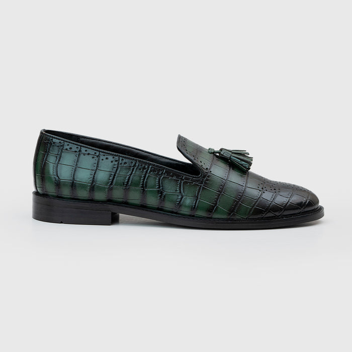 ALLIGATOR SLIP-ONS- GREEN