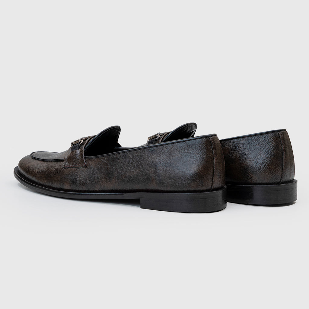 HORSEBIT SLIP-ONS- BROWN