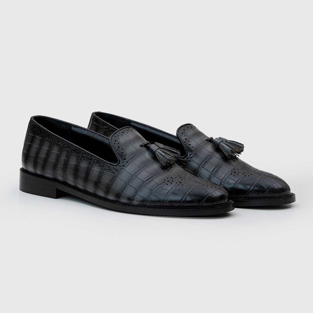 ALLIGATOR SLIP-ONS-GREY