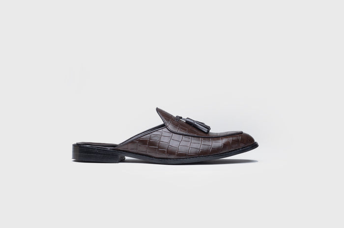 ALLIGATOR MULES-BROWN