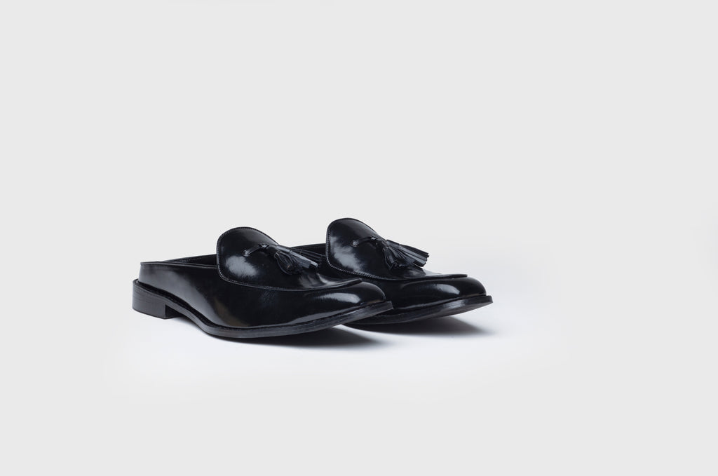 MONOCHROME MULES-BLACK