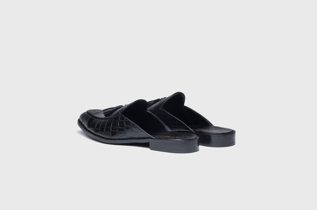 ALLIGATOR MULES-BLACK