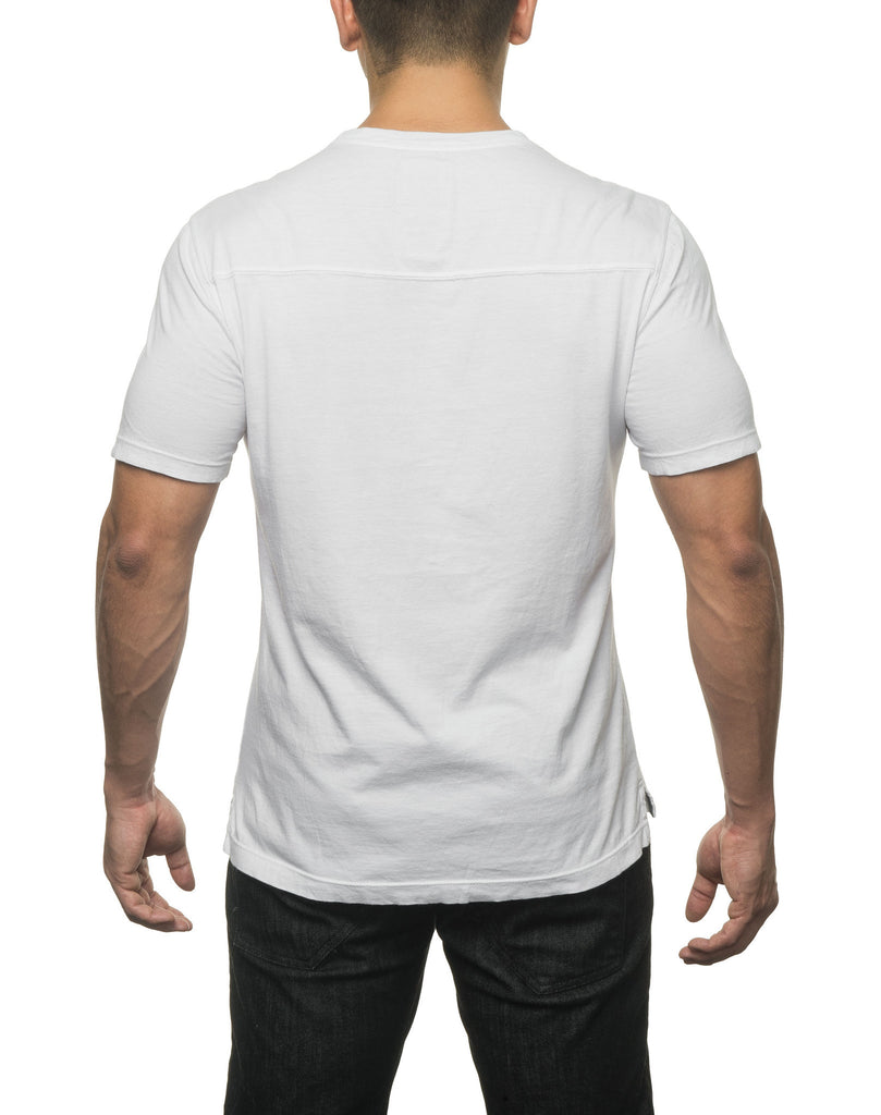Solid Crew Neck T White