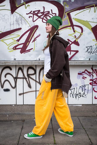 YELLOW VELOUR PANTS