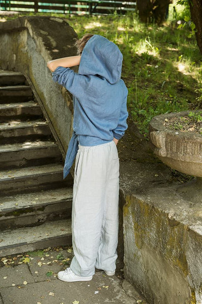 LIGHT GRAY LINEN PANTS
