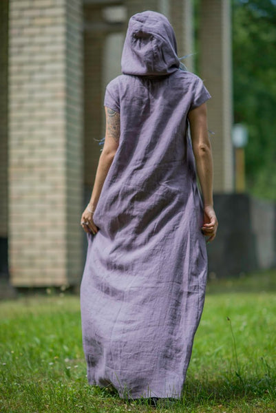 LIGHT PURPLE LINEN DRESS