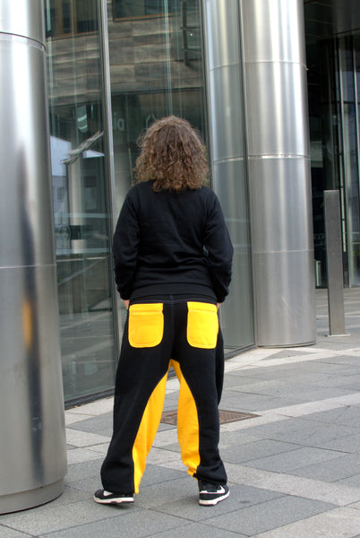 BLACK&YELLOW SWEATPANTS