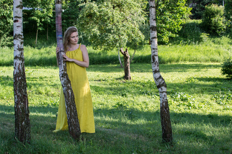 Yellow Lemon long dress