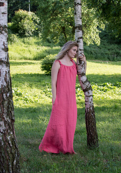 Peach Pink Long dress