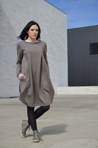 LIGHT BROWN ONE DRESS