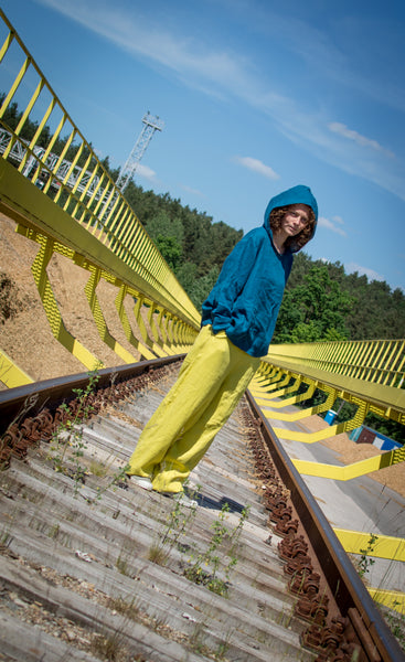 YELLOW LEMON LINEN PANTS