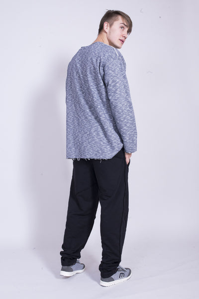 MELANGE LIGHT GRAY MAN LONG SLEEVE