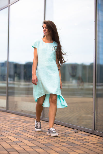 FRESH MINT LINEN DRESS