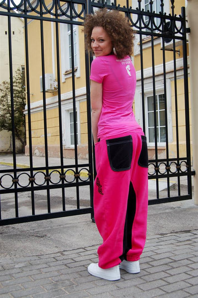 PINK&BLACK SWEATPANTS