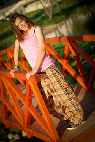 TARTAN ORANGE LIGHT PANTS
