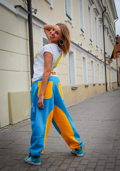 OCEAN&YELLOW SWEATPANTS