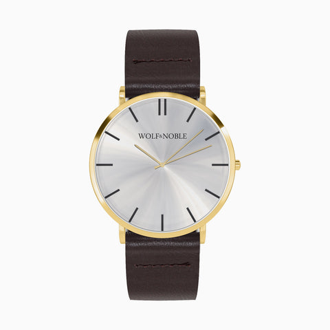 New Richmond LTD Gold, Brown Strap