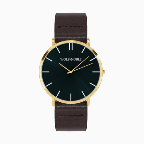 New Richmond Gold, Green EDN, Brown Strap