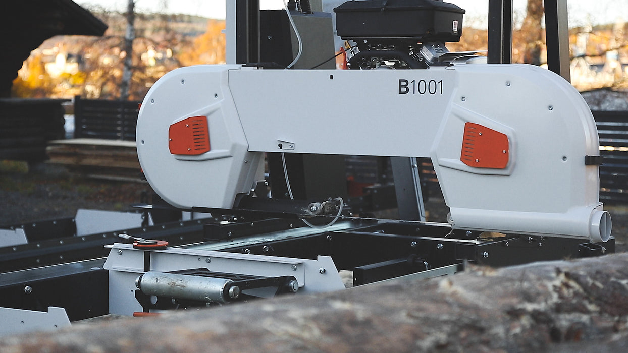 B1001 Band Sawmill with 12 kW Electric Motor.