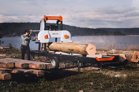 LOGOSOL B751 PRO BAND SAWMILL with 8Kw electric motor.
