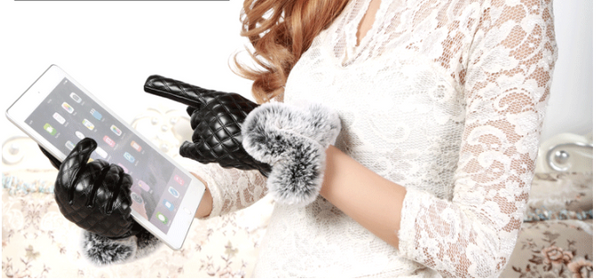Touchscreen Leather Winter Gloves