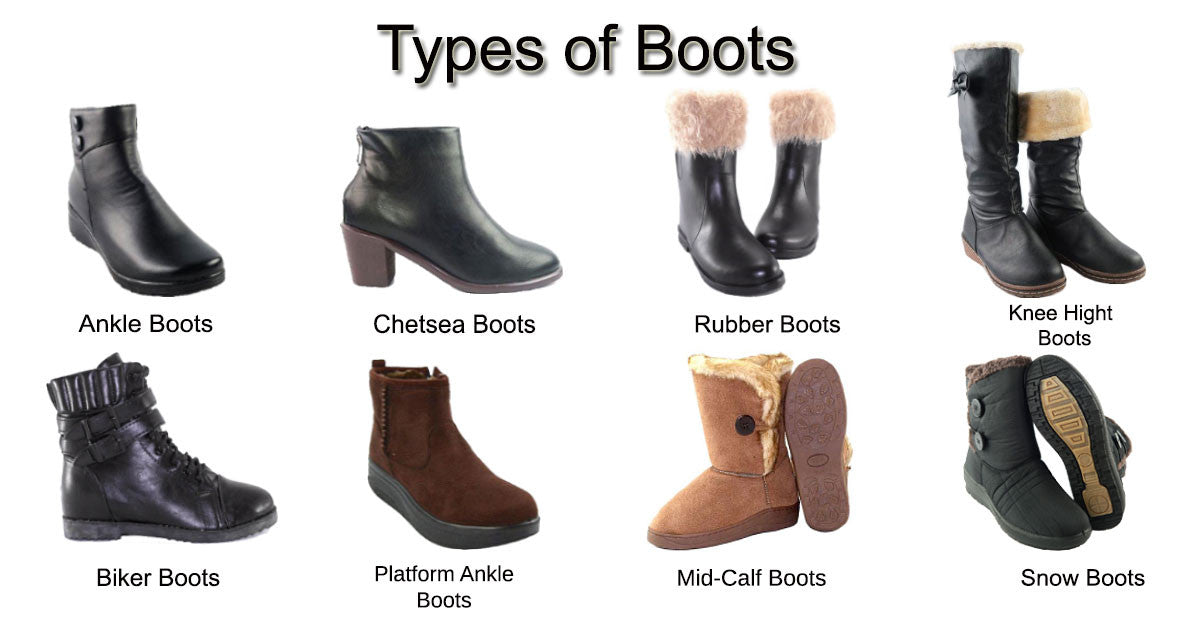 Types of Boots รองเท้าบูทมีกี่ประเภท