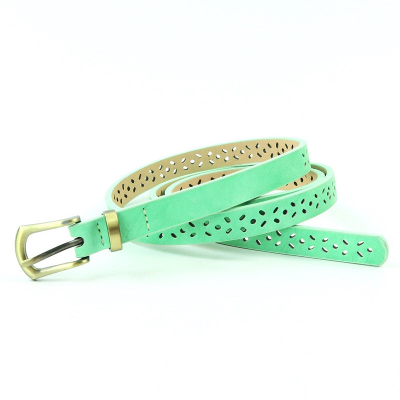 Tossed Diamond Perforated Belt