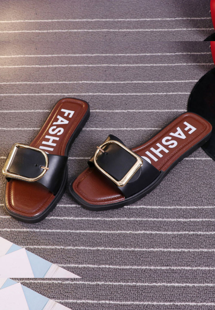 รองเท้าแตะ Fashion No.1825 - Belt Buckle Slippers Sandals