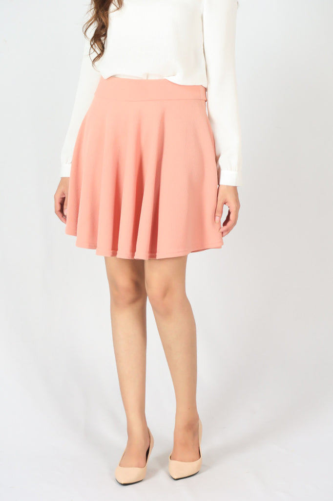 A-Line Pleated Midi Skirt