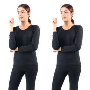 Round Neck Thermal Winter Heattech Long Johns T-shirt