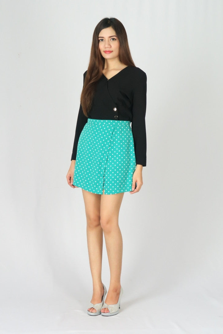 Polka Dot High Waisted Skort