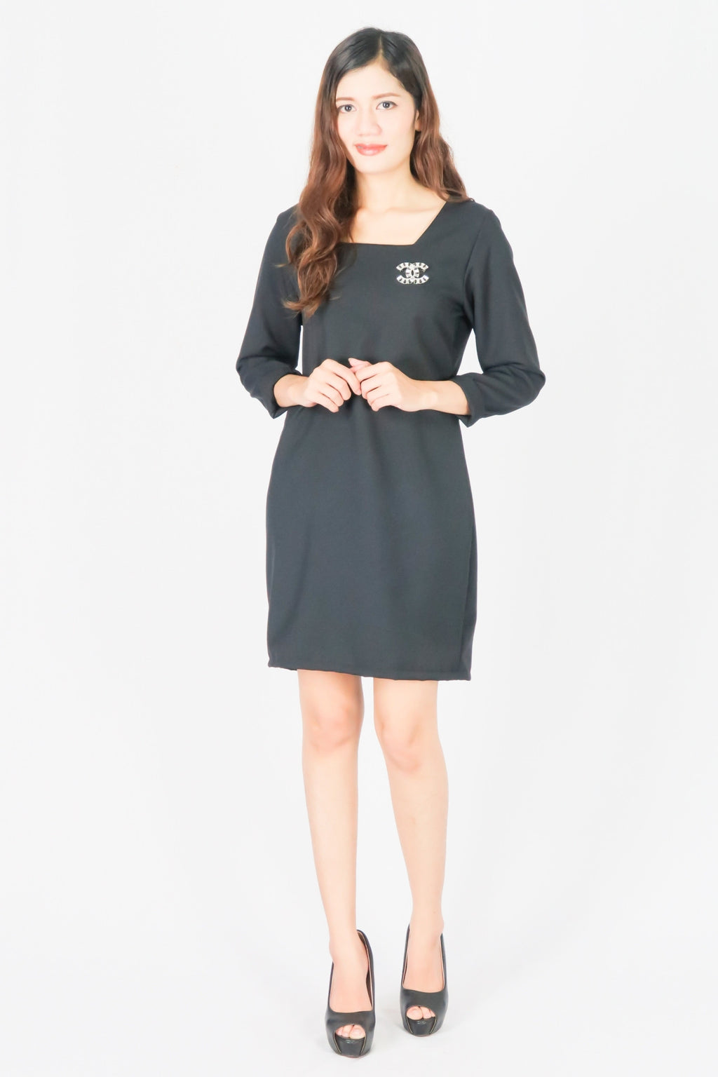 Square Neck Shift Dress