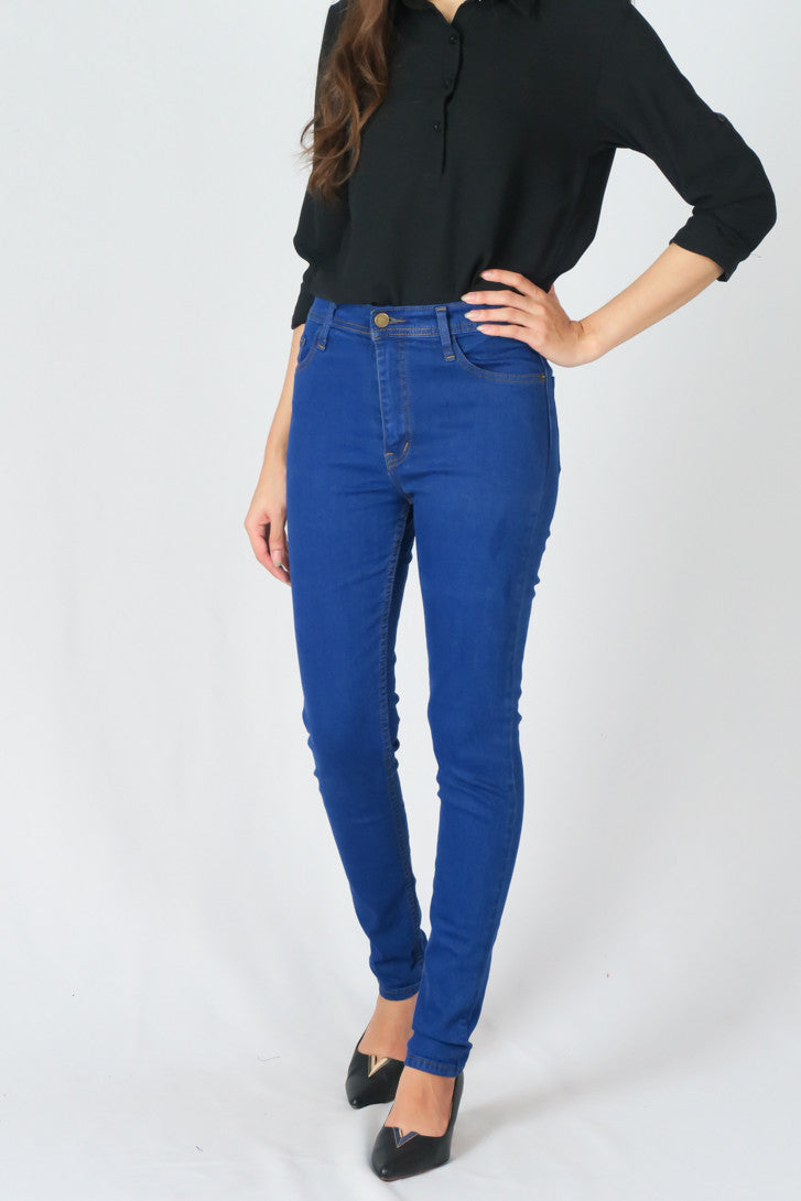 jeans Long leg High-waisted