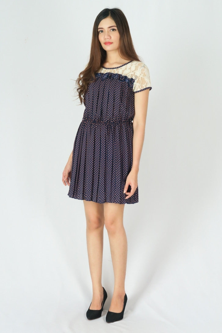 Polka Dots Pleat Dress