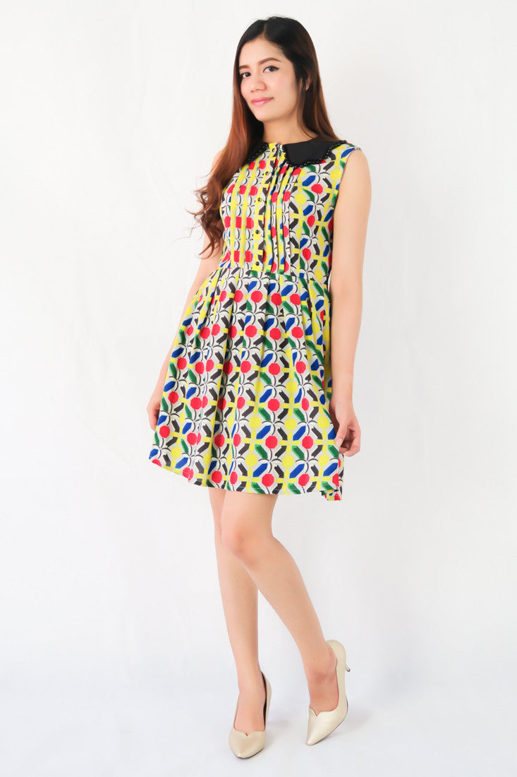 Graphic Sheath Midi Dress