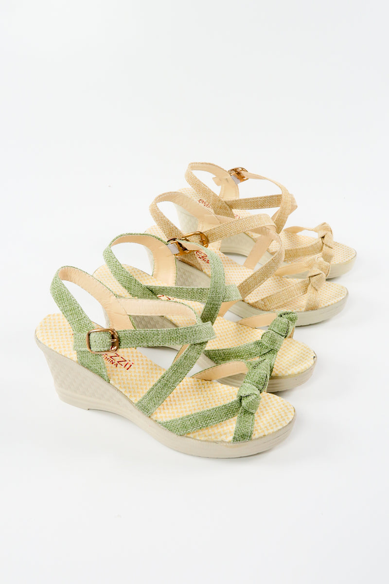 Sling-Back Open Toe Espadrilles Heel Wedge Shoes