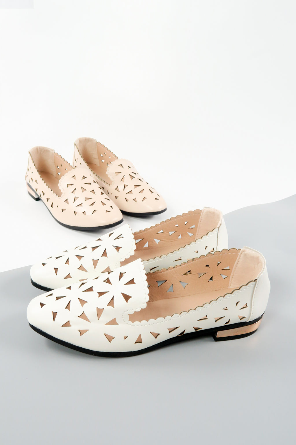 Shimmer Pointy Toe Ballet Flats