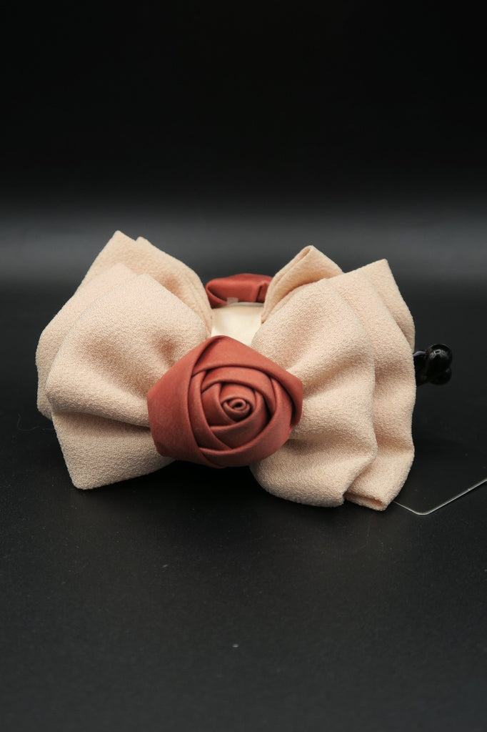 กิ๊ปหนีบผม - Rose Flower Bow Jaw Clip Barrette Hair