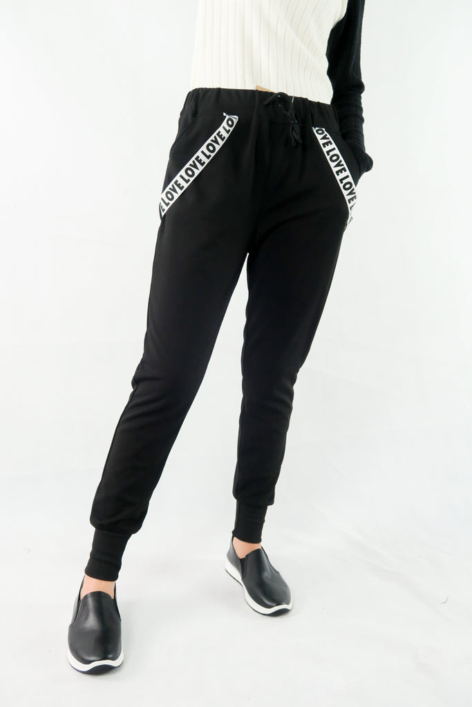 กางเกงขายาว - Casual Stretch Drawstring Skinny Pants